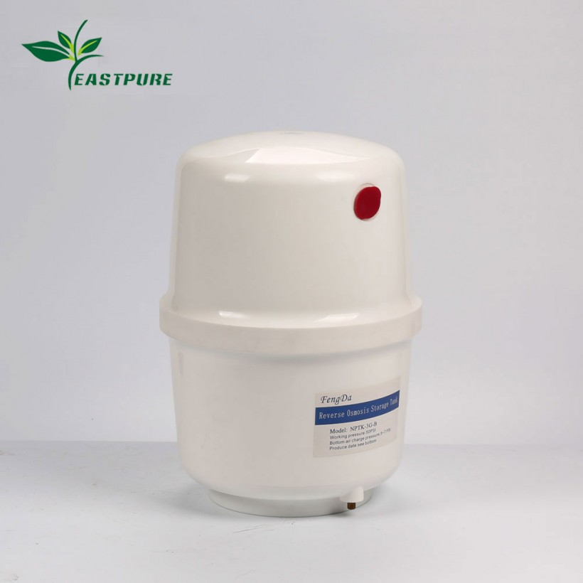 PT-4G White 4 Gallon plastic RO storage pressure tank for residential and commercial RO system