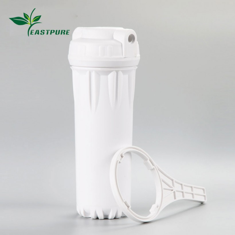 FH1002 10 inch plastic white water filter housing with wrench