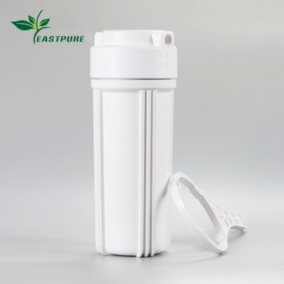 """FH1003 2.5""""*10"""" plastic white water filter housing 1/4 port size for RO/UF system"""