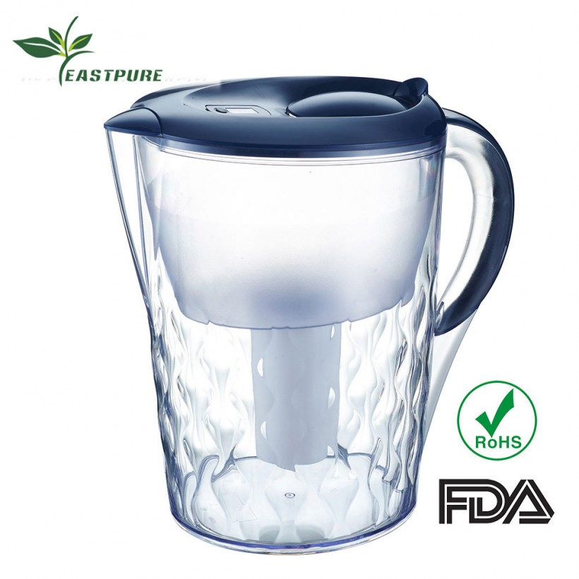 Hot selling EC-359B-Z01 kitchen use water purifier pitcher with FDA ROHS certificated