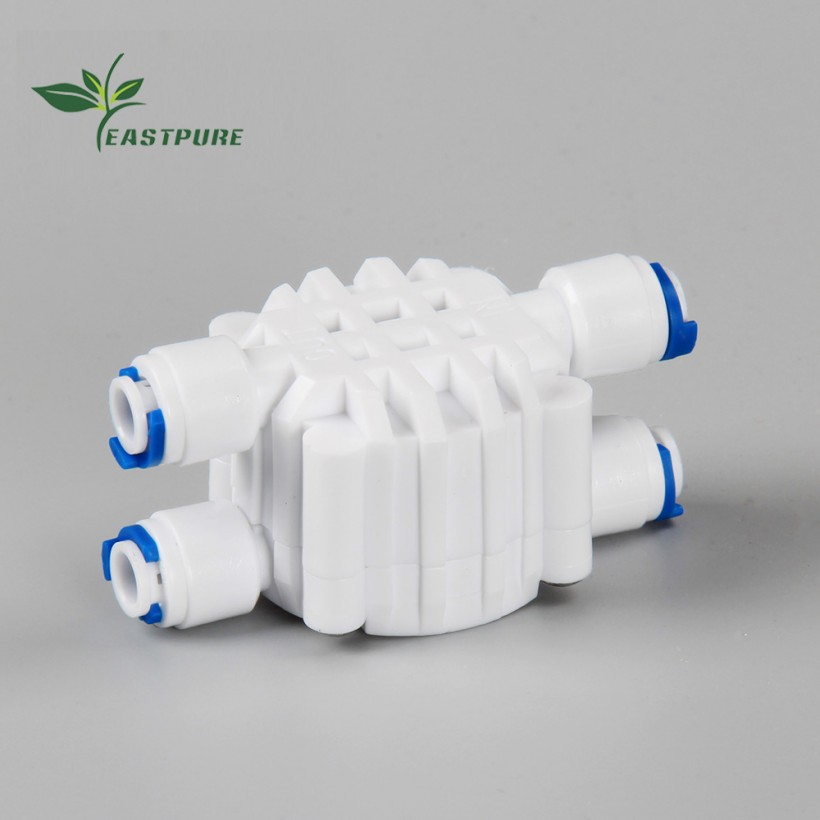 EF030 ZHEJIANG NINGBO EASTCOOLER 1/4 Port 4 Way Automatic Auto Shut Off Valve for RO water filter system