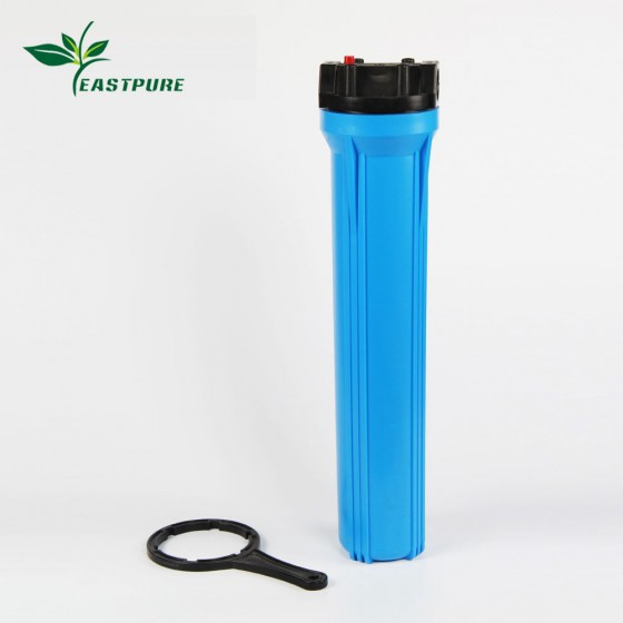 """20LSB01 2.5""""x20"""" Blue Filter Housing with Pressure Relief wrench for RO filter system Aquarium purifier"""