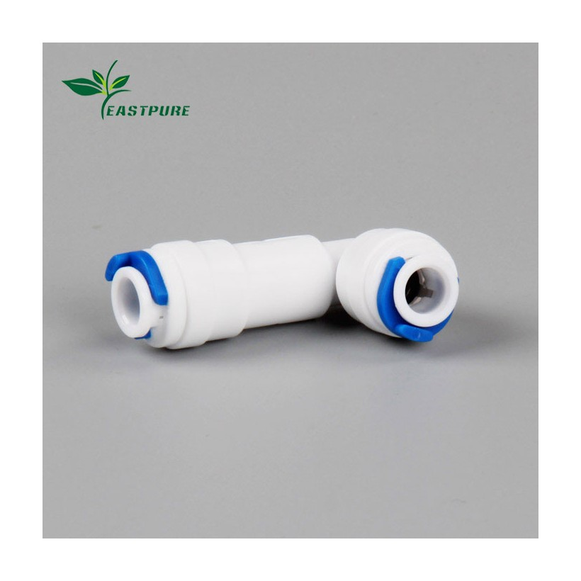 EF043 L shape plastic quick water fittings for RO purifier with tank